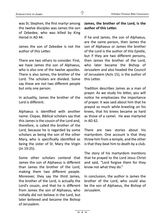 Orthodox Christian Bible Commentary - James 1 Peter 2 Peter - Sample page 2