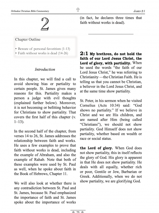 Orthodox Christian Bible Commentary - James 1 Peter 2 Peter - Sample page 3